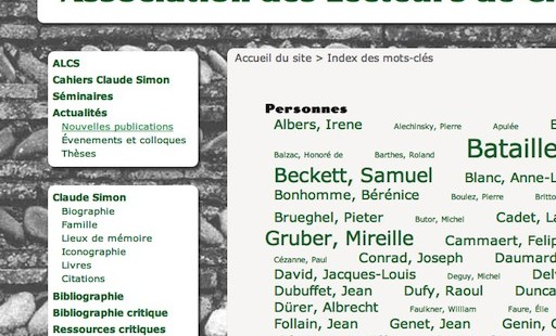 enfin un site sur Claude Simon !